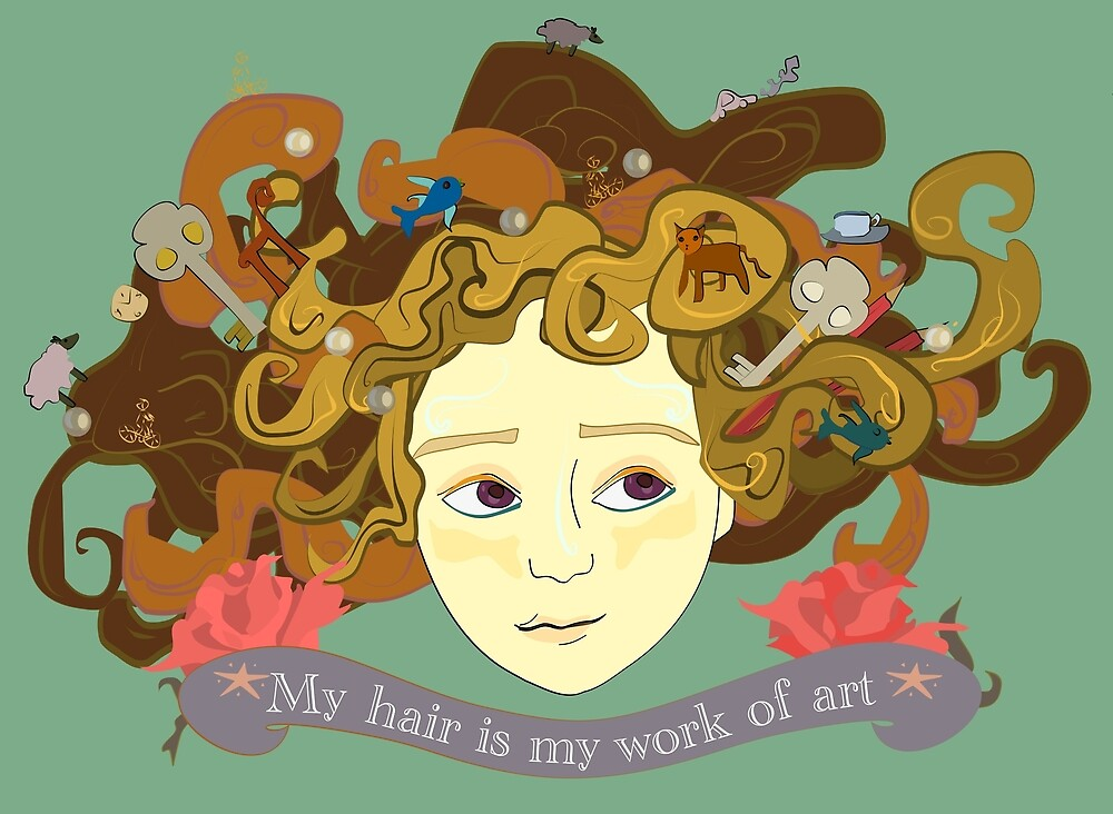 My hair is my work of art by Josephinadevina
