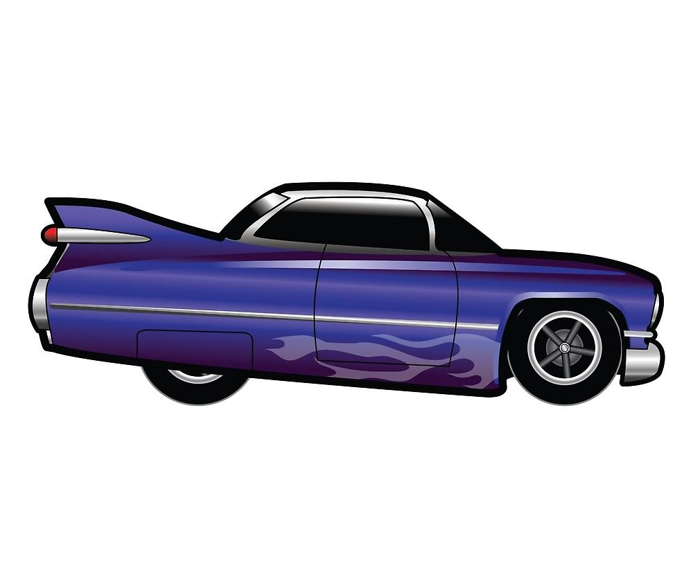 Purple HotRod Car Merchandise by luckybluesuit