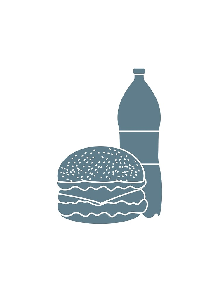 Burger and bottle of soda water. by aquamarine-p