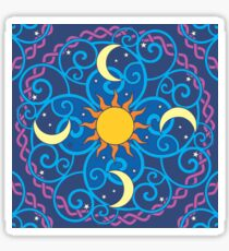 MANDALA, SUN AND MOON, Pattern Sticker