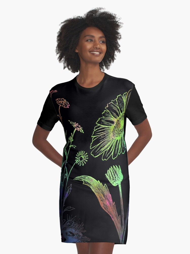 Spring flowers make you happy Women's T-Shirt Graphic T-Shirt Dress Front