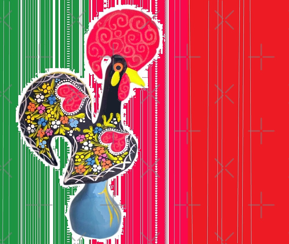 Portugal flag galo de barcelos by Antonio  Silveira