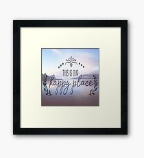 This is our happy place Framed Print