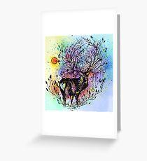 Cosmic Deer  Greeting Card