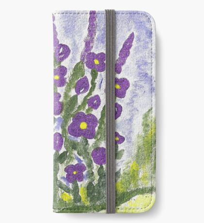 Painted Purple iPhone Wallet