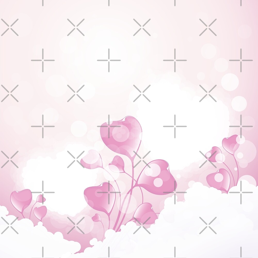 Flower Hearts in the Clouds by -WaD-