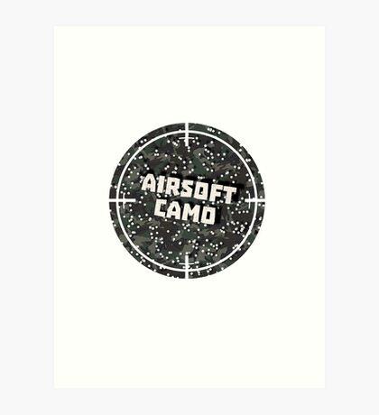 Airsoft Camo Art Print