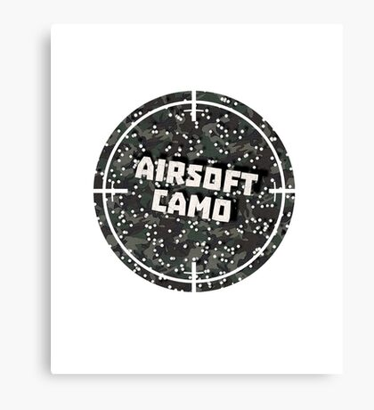 Airsoft Camo Canvas Print