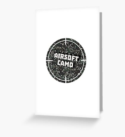 Airsoft Camo Greeting Card