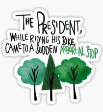West Wing Arboreal Stop Sticker