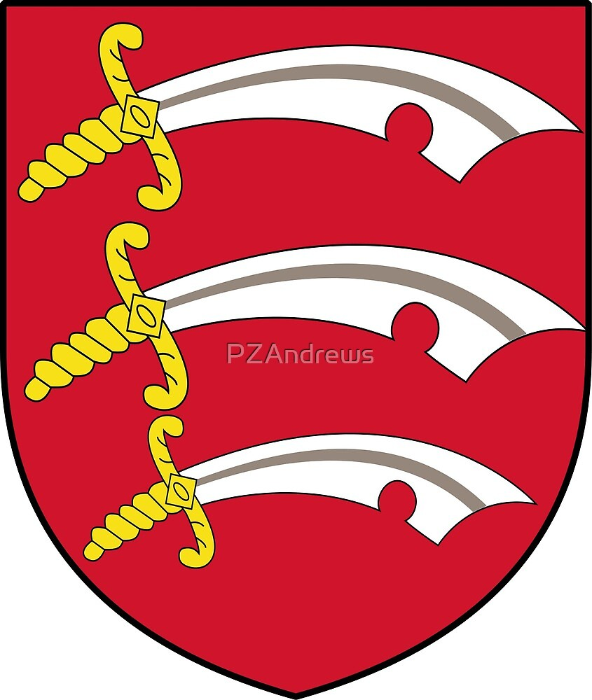 County Essex Coat of Arms, England by PZAndrews