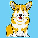 Sky Blue Corgi by Adam Regester