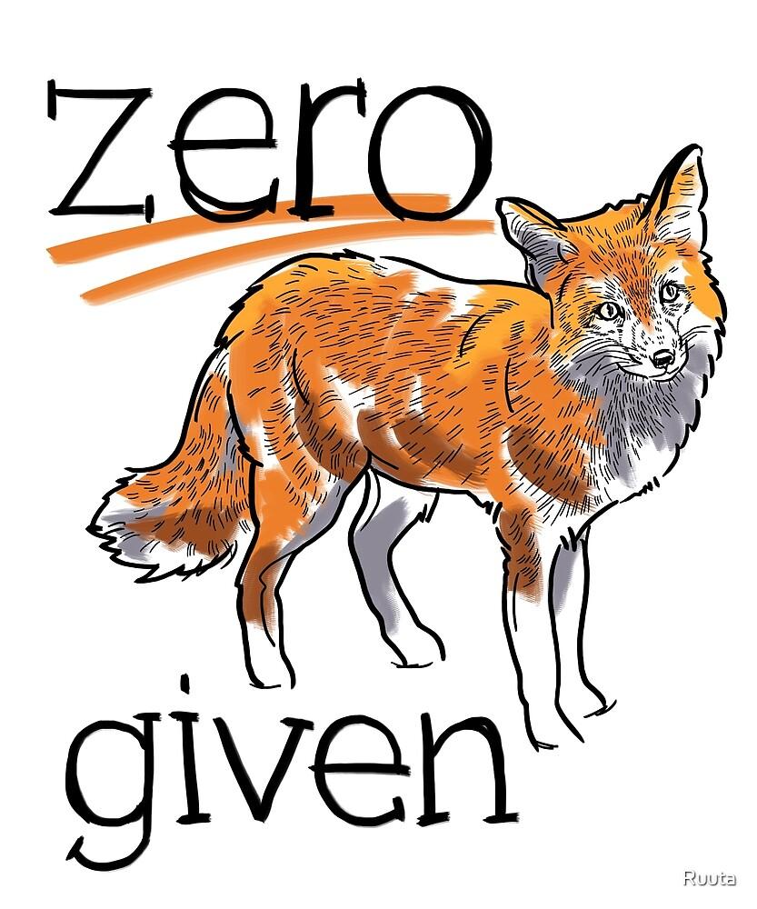 Zero Fox Given by Ruuta