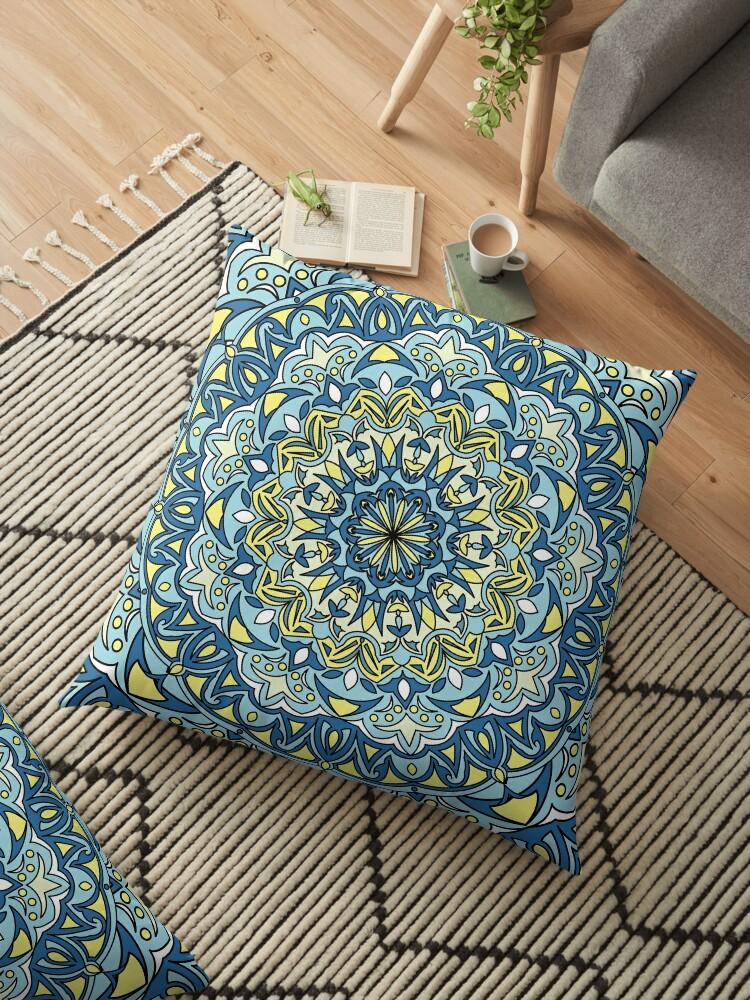 Mandala blue and yellow colors. by Fodorviola73