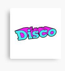 Disco Party Retro Fashion Elements Canvas Print