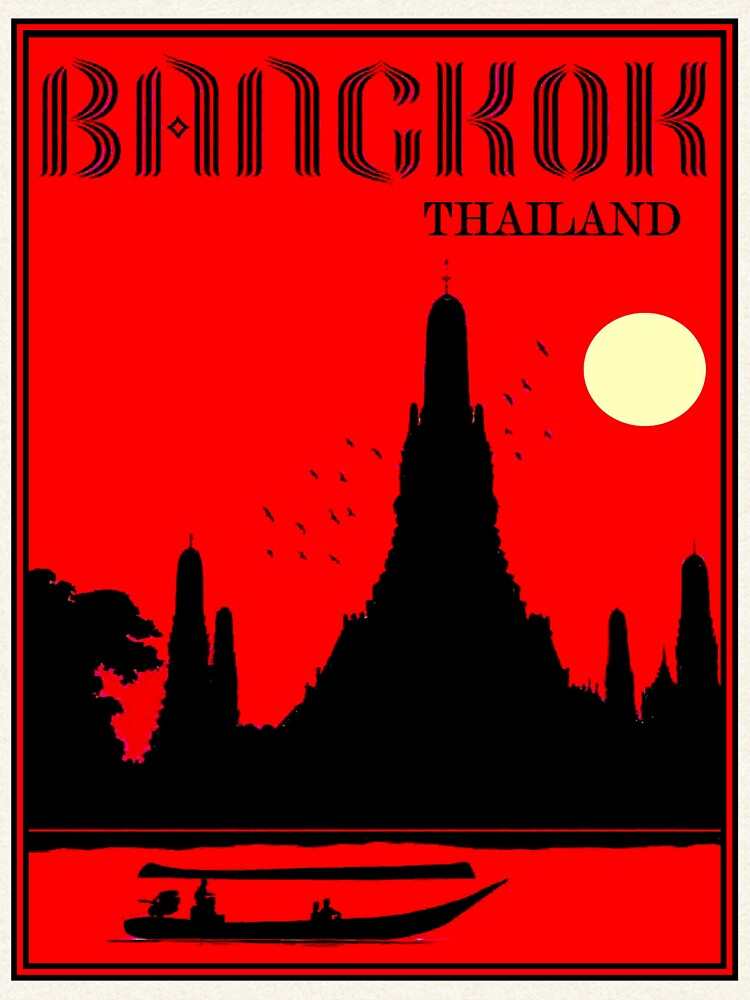 THAILAND : Vintage Wat Arun Temple of Dawn Print by posterbobs