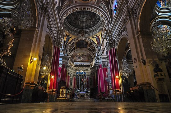 Cathedral of Assumption in Gozo, Malta  by sdkbphotography