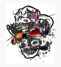 Skulls Love Is Dope Graphic Print Swag  Photographic Print
