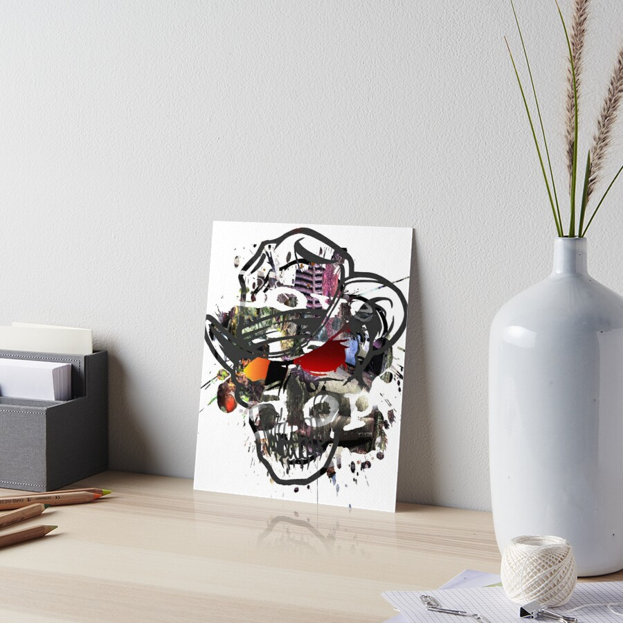 Skulls Love Is Dope Graphic Print Swag  by ShyneR