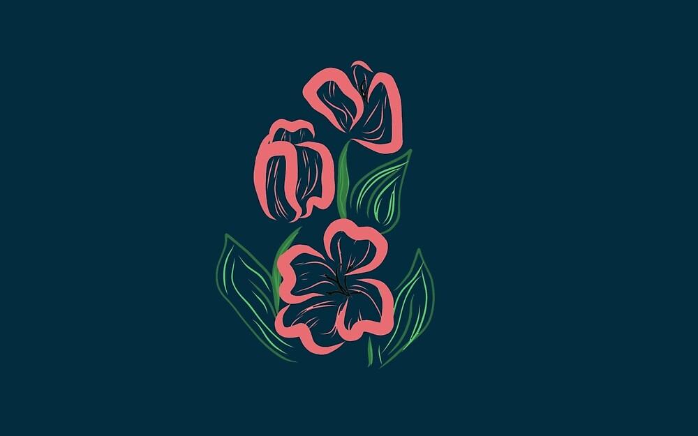 Floral Graphic Design by DeLislesRT
