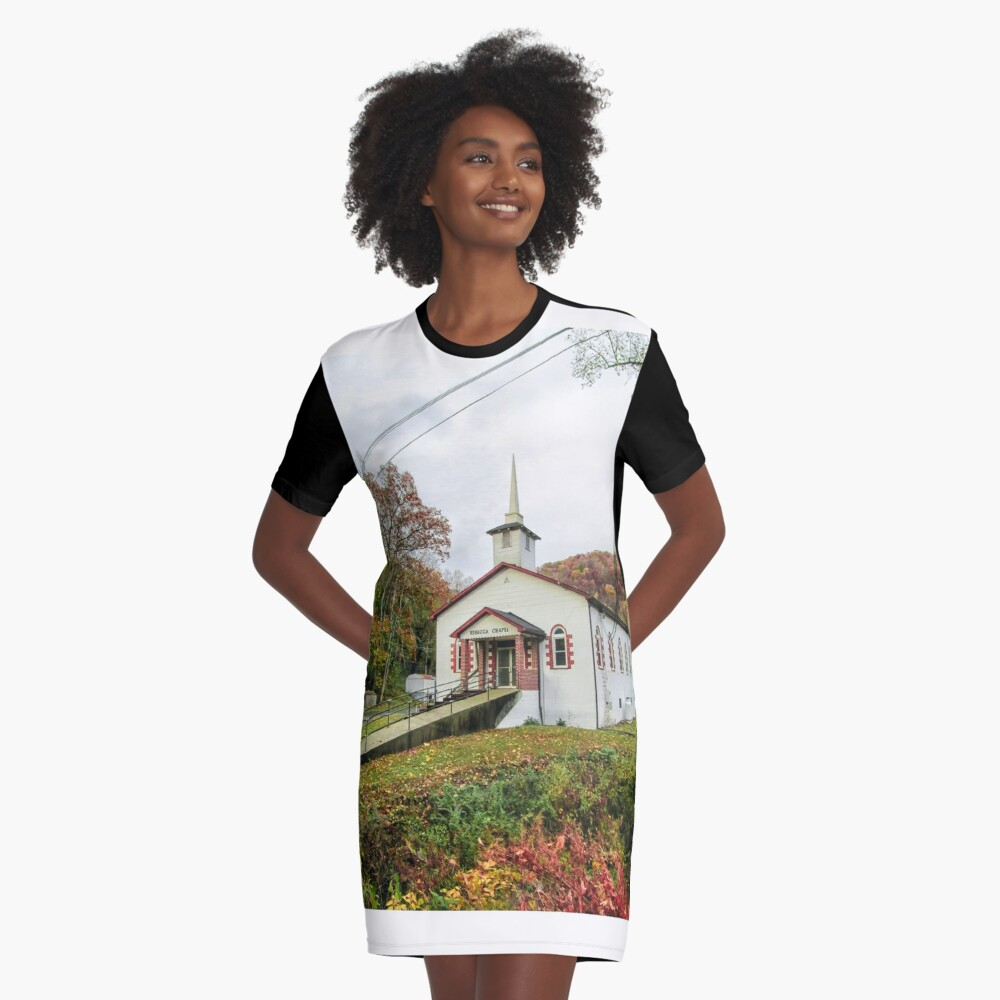 Rebecca In Fall  Graphic T-Shirt Dress Front