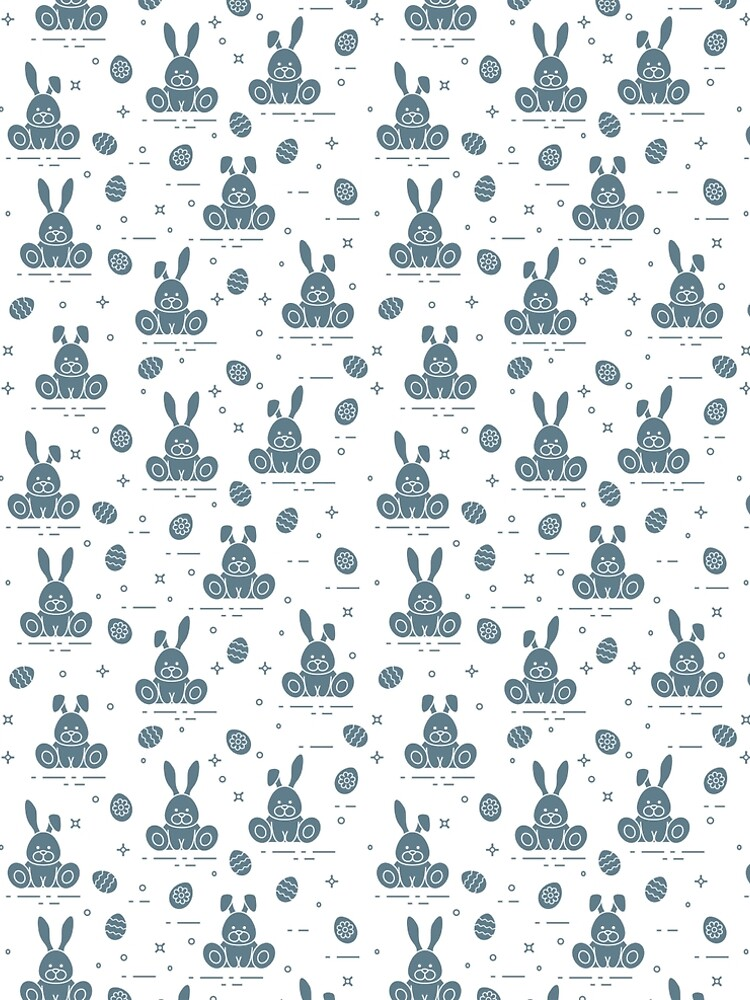 Pattern with Easter rabbits, decorated eggs. by aquamarine-p