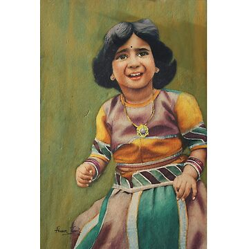 Girl is ready to celebrate birthday with awesome outfit -in watercolor by artyzoneindia