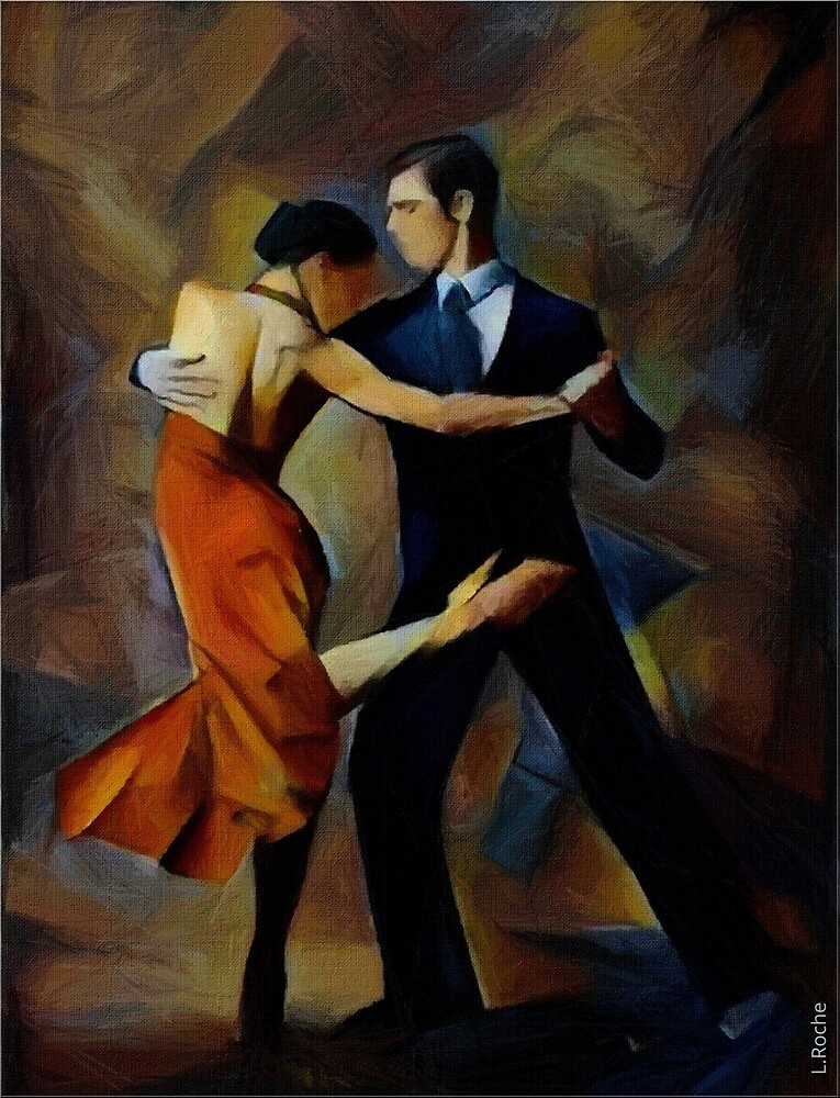 Tango argentino, Léa Roche paintings by LEAROCHE