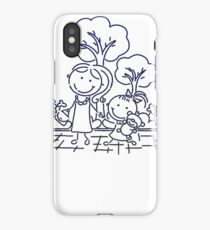 Cartoon Blue iPhone Case/Skin