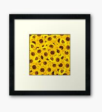 Lots of sunflowers Framed Print