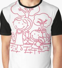 Cartoon Pink Graphic T-Shirt