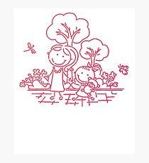 Cartoon Pink Photographic Print