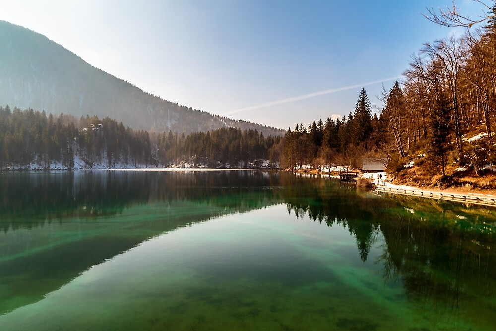 Sunny afternoon at the alpine lake by zakaz86
