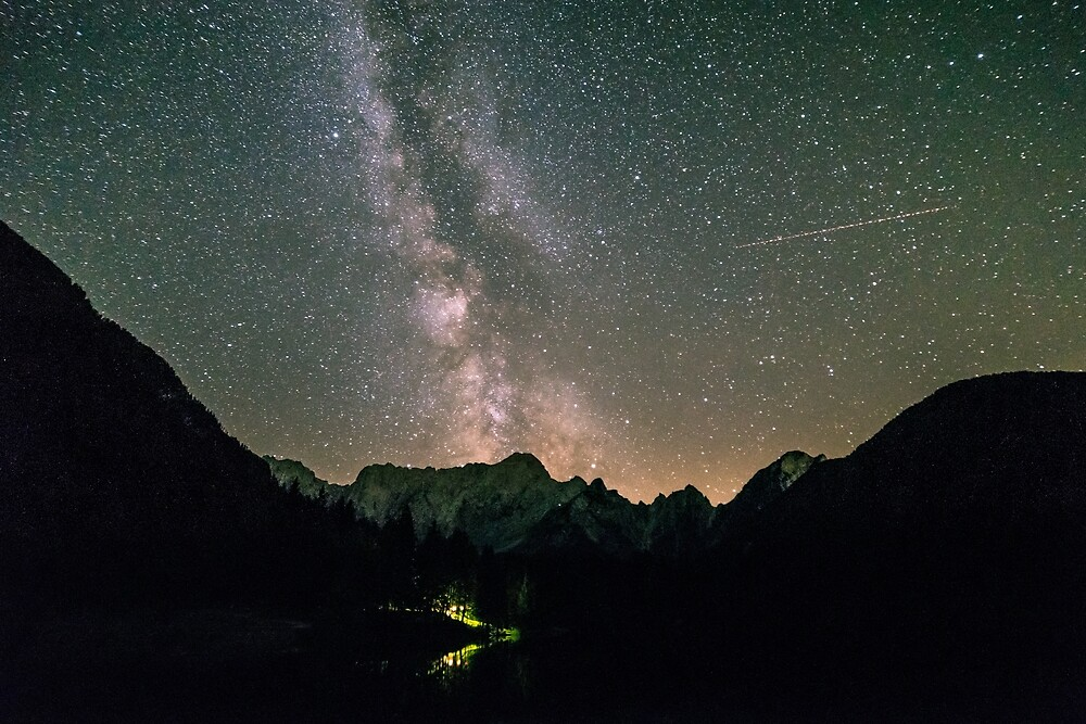 Milky way at the lake of Fusine, Italy by zakaz86