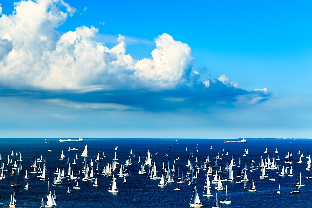 The Barcolana regatta in the gulf of Trieste by zakaz86