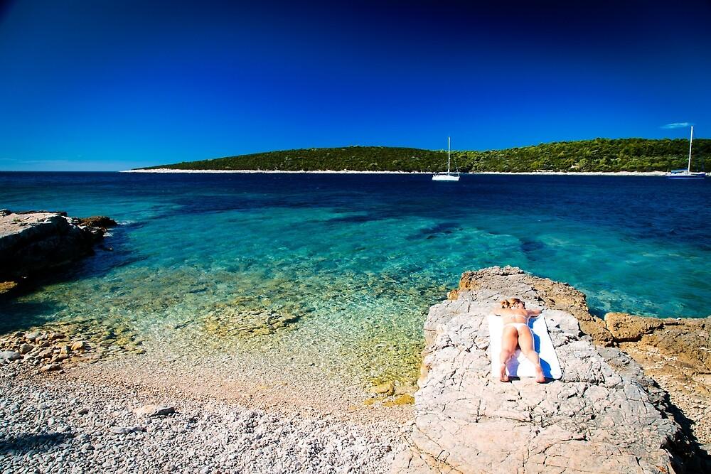 Girl at the sea in Croatia by zakaz86