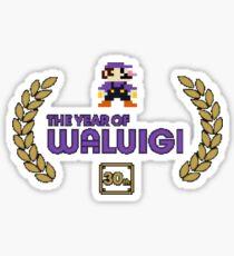 Year of Waluigi Sticker