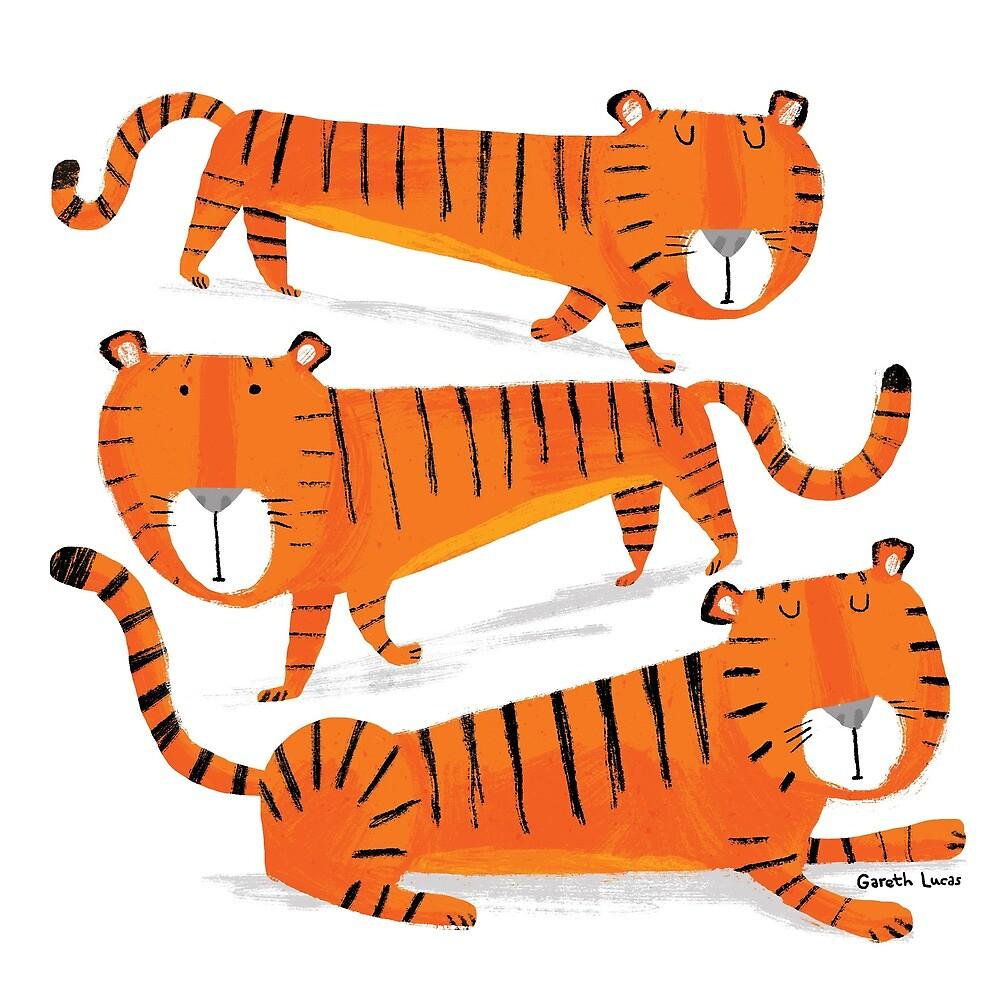 Three Tigers by Gareth Lucas