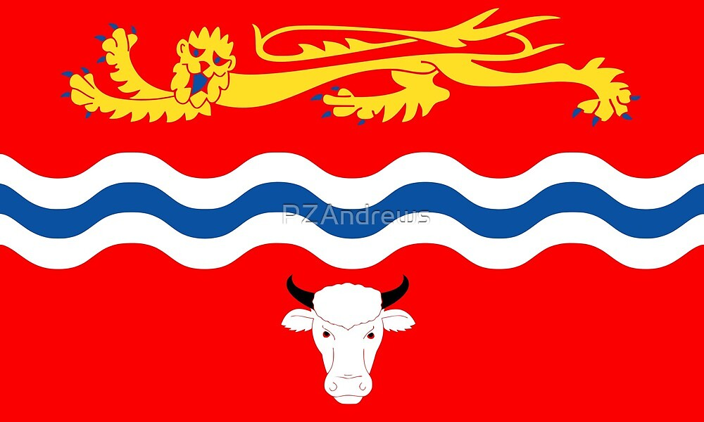 County Flag of Herefordshire, England by PZAndrews