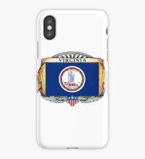 Virginia Art Deco Design with Flag iPhone Case/Skin