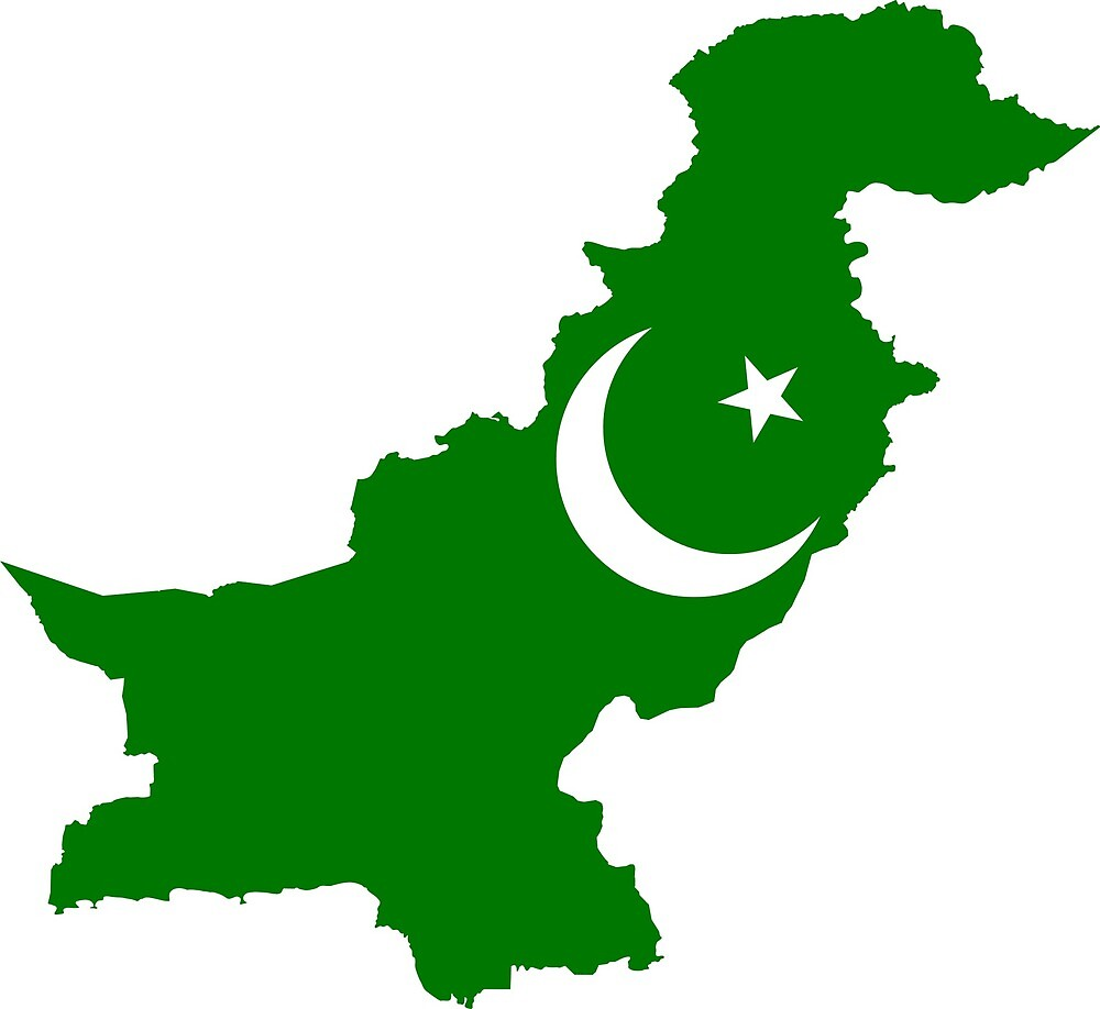 Pakistan Continent Flag by PRODUCTPICS