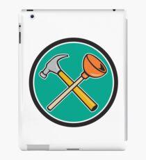Crossed Hammer Plunger Circle Cartoon iPad Case/Skin