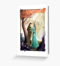 Aragorn and Arwen in Rivendell Greeting Card