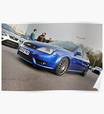 Blue Mondeo ST Poster