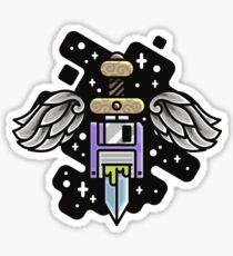 wings floppy sword Sticker