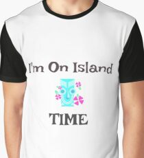 "Tiki Fun ""I'm On Island Time"" Graphic T-Shirt"