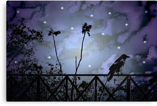 Fantasy Dark Night Scene Illustration by DFLC Prints