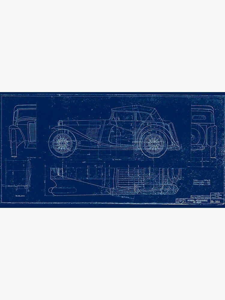 MG TC Blueprint Diagram by JustBritish