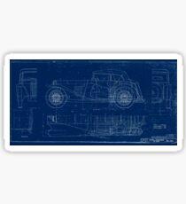 MG TC Blueprint Diagram Sticker