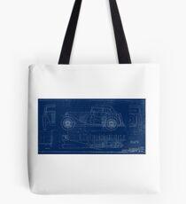 MG TC Blueprint Diagram Tote Bag